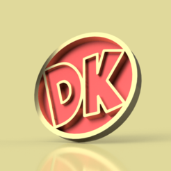 Download STL file Donkey Kong DK Logo • 3D printing object, chileimpresiones3d