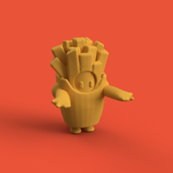 1.png Download STL file FALL GUYS: ULTIMATE KNOCKOUT FRENCH FRIES PHONE HOLDER • 3D printer template, chileimpresiones3d