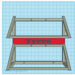 2020-11-10 (2).png Download STL file wall mounted stacked tyre rack • 3D printable design, coolbrendan