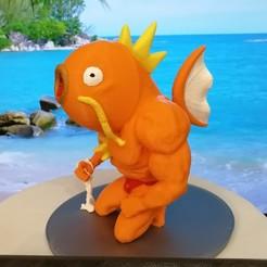Descargar archivo STL MAGIKARP FUNNY piggy bank (NO SUPPORT) • Modelo para imprimir en 3D, LiraRock