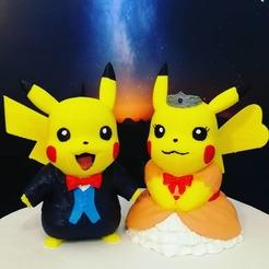 Descargar archivo STL Pareja Pikachu (Pokemon) • Modelo imprimible en 3D, LiraRock