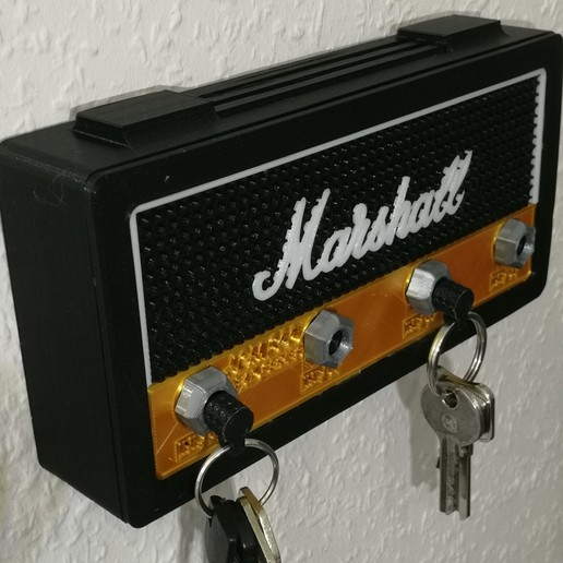 Download STL file Marshall Wall Keychain • 3D printer object, warenito
