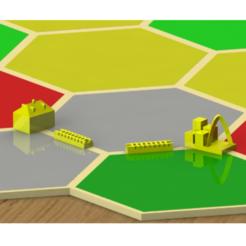 RenderSquare.PNG Télécharger fichier STL Set Catan - Coutume - St. Loius • Modèle pour impression 3D, Lamblab