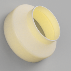 Untitled v4.png Download STL file 6 to 4 inch Duct Reducer AC Infinity Cloudline • 3D printing model, joshd