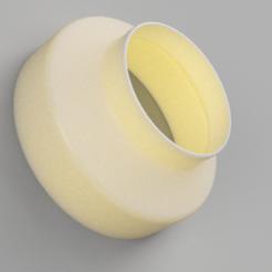 Untitled v4.png Télécharger fichier STL Réducteur de conduit 6 à 4 pouces AC Infinity Cloudline • Modèle imprimable en 3D, joshd