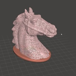 Download STL files Cavalo Voronoi, Voronoi Horse, nobelprojeto