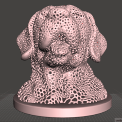 Download 3D printer designs Dog Voronoi, Labrador Voronoi, nobelprojeto