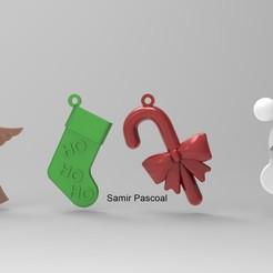 Enfeites Natal_4.jpg Télécharger fichier STL Noël, décoration de Noël • Modèle imprimable en 3D, samirpasc