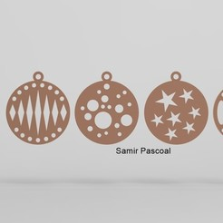 Bolinhas Natal_1.jpg Download STL file Christmas ball_Bola de natal • 3D print object, samirpasc