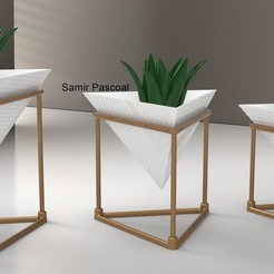 Trio Vasos_Triangulo.jpg Télécharger fichier STL Vaso Triângulo • Modèle imprimable en 3D, samirpasc