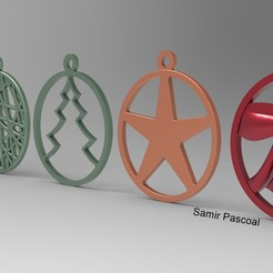 Enfeites Natal_2.jpg Download STL file  Christmas • Template to 3D print, samirpasc