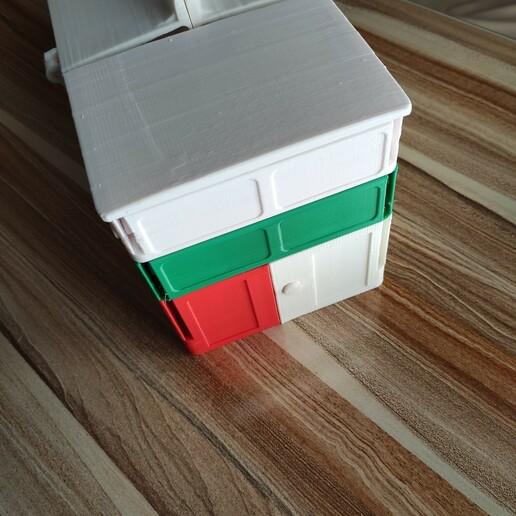 1608827781255.jpg Download STL file Multiple container ( closed 180x370mm) construction Contenitore multipla trasportabile Multibox • 3D printable design, mikifly10