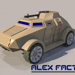 Download 3D printing models Armored vehicle with turret, alexfactory