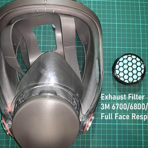 Download 3D printing models 3M 6700 6800 Full Face Mask Respirator Exhaust Valve Filter, mariozawamd