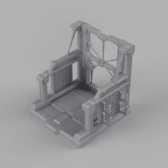 Gundam_Hangar_2020-Jan-22_11-01-36AM-000_CustomizedView5523736358_png.png Download STL file Gundam hangar - Display for Gunpla figures • 3D printer template, Hemoner