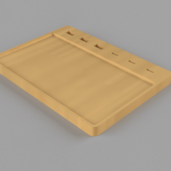 Preview.png Download free STL file Magnetized tray with USB - USB C • 3D printer object, Hemoner