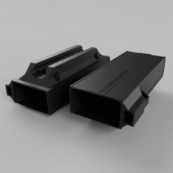 Untitled_2020-Jan-22_11-01-47AM-000_CustomizedView28692723387_png.png Download free STL file BATTERY HOLDER - Picatinny rail case (Airsoft) • 3D print template, Hemoner