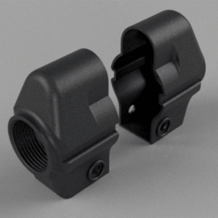 Stock.png Télécharger fichier STL MP5 - Adaptateur de stock AR / M4 • Plan imprimable en 3D, Hemoner
