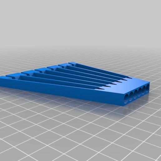 flatFilesOrganiser.png Télécharger fichier SCAD gratuit Organiseur de mini-fichiers 6pcs • Plan à imprimer en 3D, ne100r
