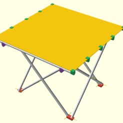 Download free 3D printer designs Camping table, ne100r