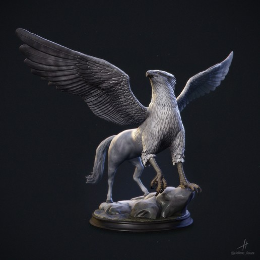 Download 3D printing templates Griffin / Hippogriff, helleno9