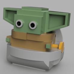 LegoYoda.png Download OBJ file Baby Yoda or Keychain • 3D printing template, WorldOfPoligons
