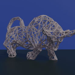 SS13T.png Download OBJ file Low Poly Bull • Design to 3D print, WorldOfPoligons