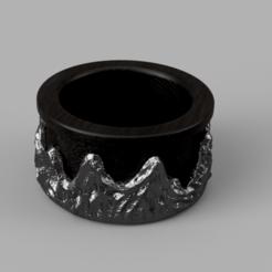 Mountain.png Download STL file Ring Wild Rocks • 3D printable object, WorldOfPoligons