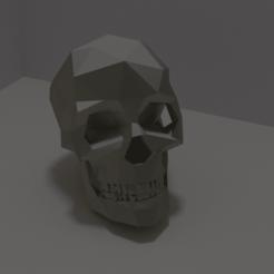 skull.png Télécharger fichier OBJ Crâne ou porte-clés à faible polyvalence • Objet imprimable en 3D, WorldOfPoligons