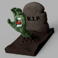 Screaming Hand .png Download OBJ file Screaming Hand Sculpture • 3D printer template, WorldOfPoligons