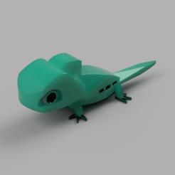 LegoSalamandra0.png Download OBJ file Lizard or Keychain • 3D print object, WorldOfPoligons