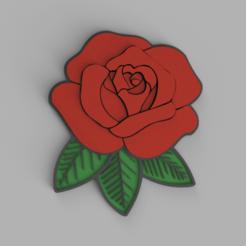 Rose.png Download OBJ file Rose • Design to 3D print, WorldOfPoligons