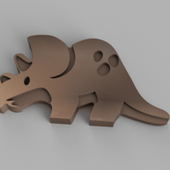 Triceratops.png Download OBJ file Triceratops Keychain • 3D printing template, WorldOfPoligons