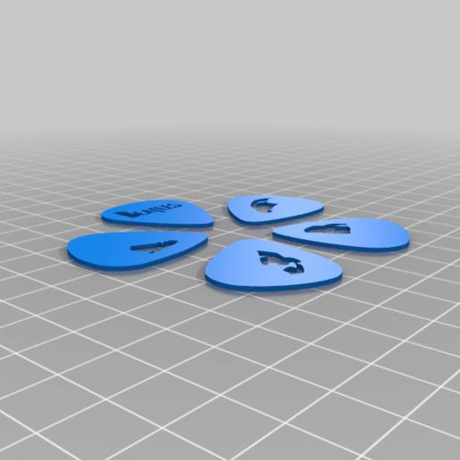 Beatles_Guitar_picks.png Télécharger fichier STL gratuit Collection unique de plectres pour guitare • Design pour imprimante 3D, Ender3PrintingFan1