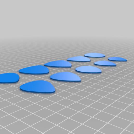 10_Pick_Sampler.png Télécharger fichier STL gratuit Collection unique de plectres pour guitare • Design pour imprimante 3D, Ender3PrintingFan1