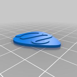 Télécharger fichier impression 3D gratuit Guitar Pick 351 Alphabet de forme, Ender3PrintingFan1