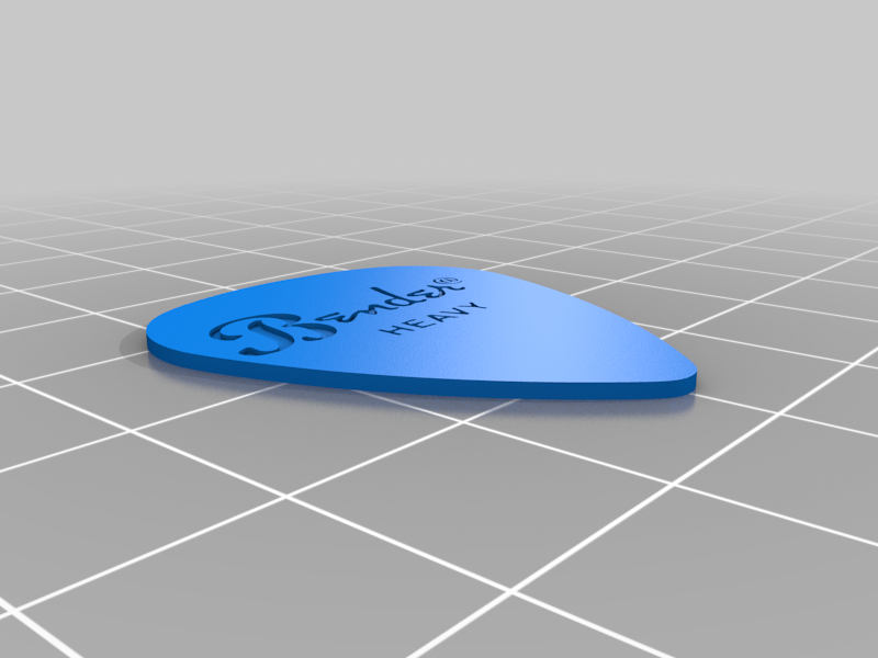 Bender_Heavy_Pick.png Télécharger fichier STL gratuit Collection unique de plectres pour guitare • Design pour imprimante 3D, Ender3PrintingFan1