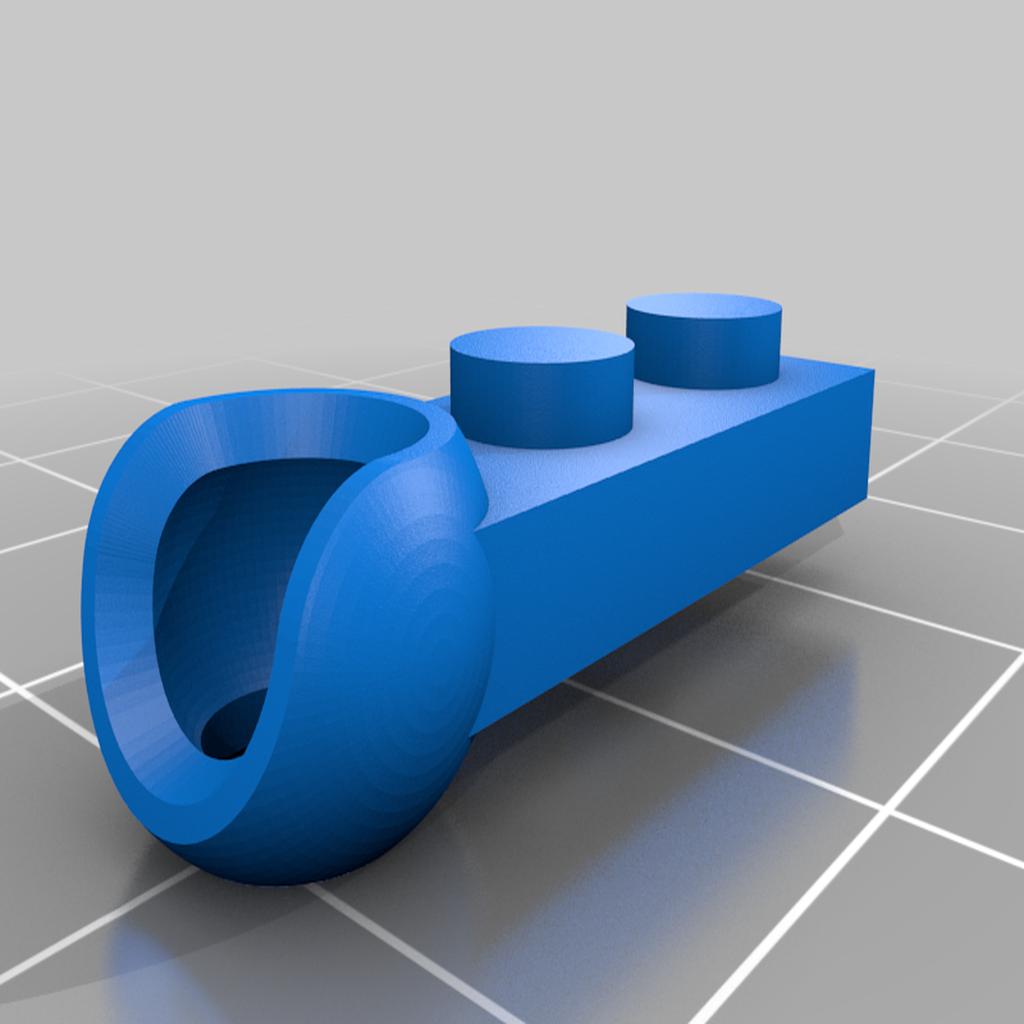 Lego_ModiBot_adapter_2.png Download free STL file Interlocking Brick System to ModiBot adapter. • Design to 3D print, Ender3PrintingFan1