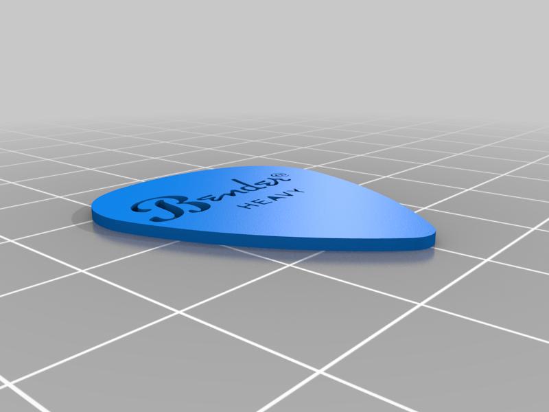 Bender_Heavy_Pick_2.png Télécharger fichier STL gratuit Collection unique de plectres pour guitare • Design pour imprimante 3D, Ender3PrintingFan1