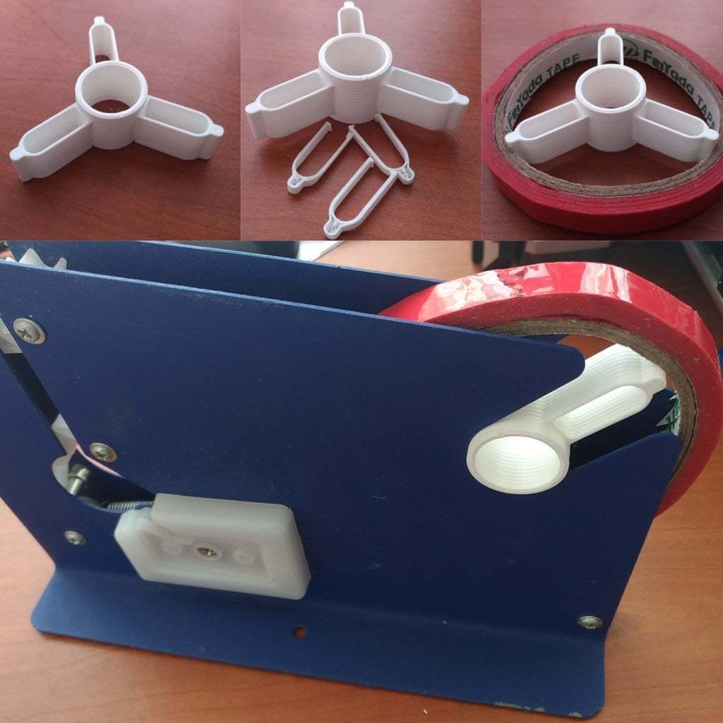 InShot_20200517_112700326.jpg Download free STL file Plastic Bag Neck Sealer 12mm roll support • 3D printing model, SPLIT007