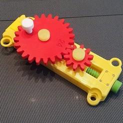 01.jpg Télécharger fichier STL Transmission par engrenage - Maquette didactique • Plan pour imprimante 3D, sitetechnofr
