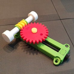 011.jpg Download STL file Gear Transmission with Worm Gear • Design to 3D print, sitetechnofr