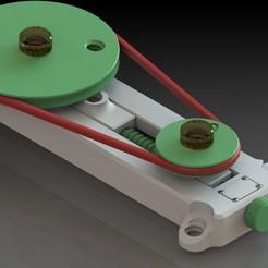01.jpg Download STL file Belt transmission - Didactic model • Model to 3D print, sitetechnofr