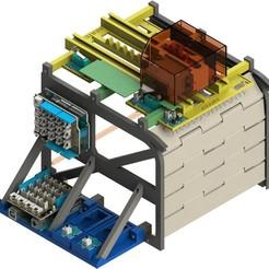 01.jpg Download STL file Sectional garage door - Didactic model - .STL files • 3D print design, sitetechnofr