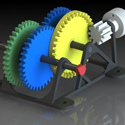 PhotoView.jpg Download STL file Geared motor - Didactic model • 3D printer object, sitetechnofr