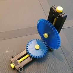 Image 1000x1000.jpg Download STL file ⚙️ Bevel gear transmission (adjustable version) • 3D print model, sitetechnofr