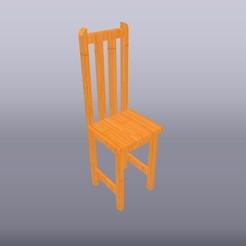 Silla de madera 1-20.jpg Télécharger fichier OBJ Echelle de la chaise 1:20 • Modèle imprimable en 3D, isak009