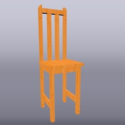 Silla de madera 1-25.jpg Download OBJ file Chair scale 1:25 • 3D printer model, isak009