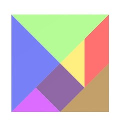 Tangram jpg 1.jpg Download OBJ file Tangram 4x4 in • 3D printing object, isak009
