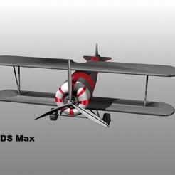 Biplano plateado 3dsjpg 1.jpg Download OBJ file Biplane aircraft scale 1:50 • 3D printing design, isak009